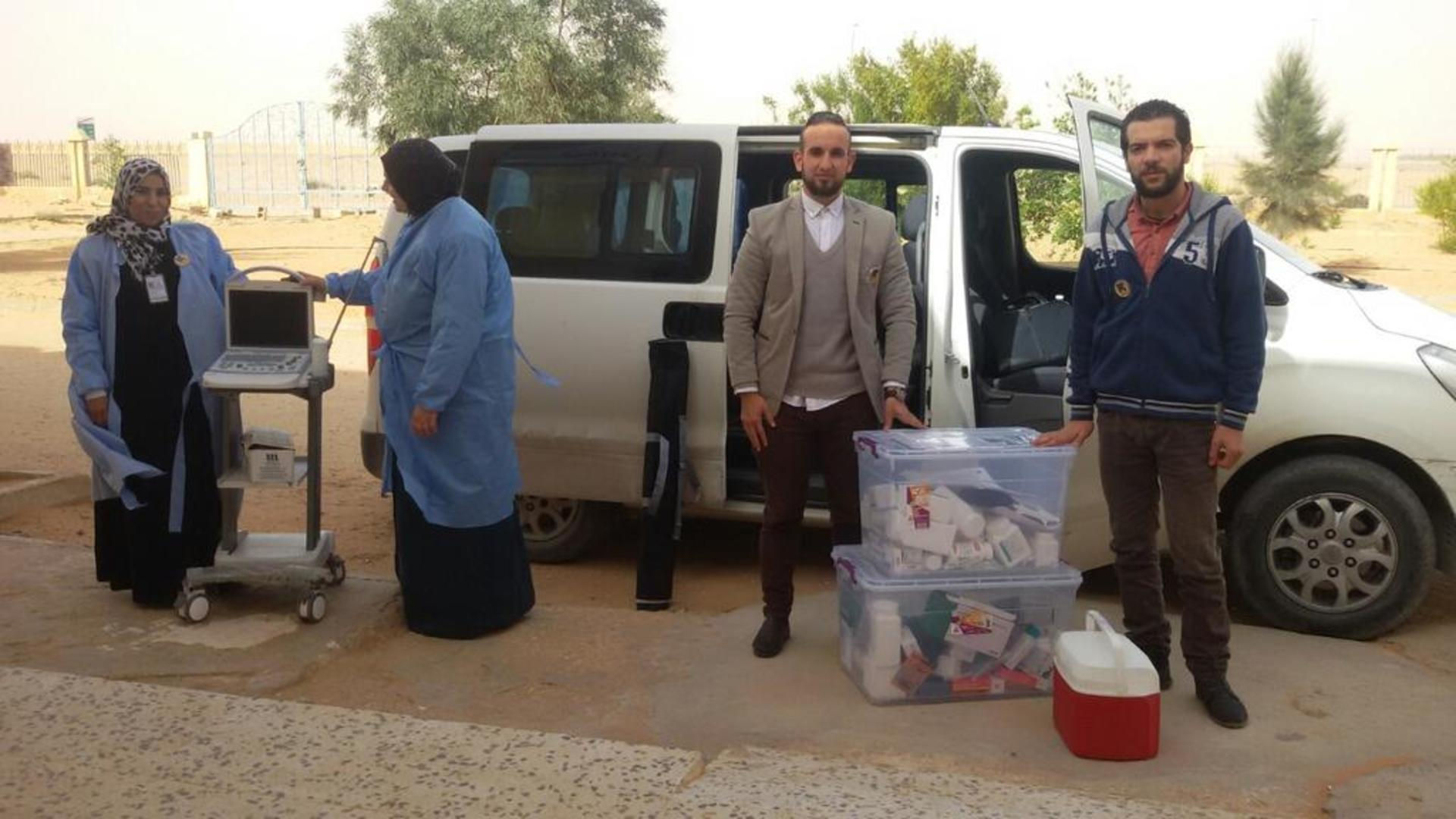Mobile medical team and their minivan