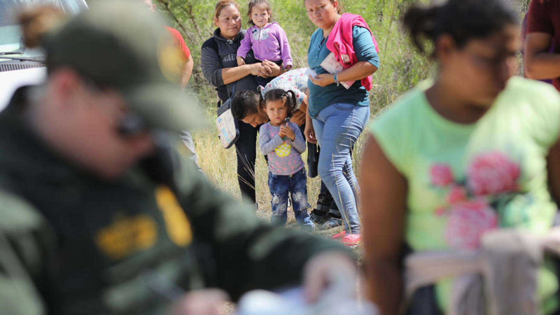 Families seeking asylum at the U.S.-Mexico border are detained