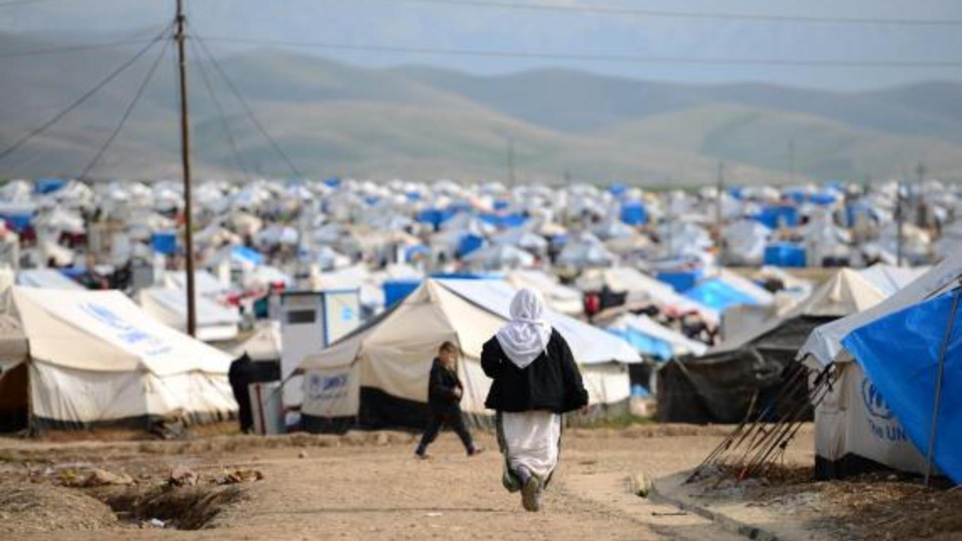 Yazidi woman in Iraq displacement camp