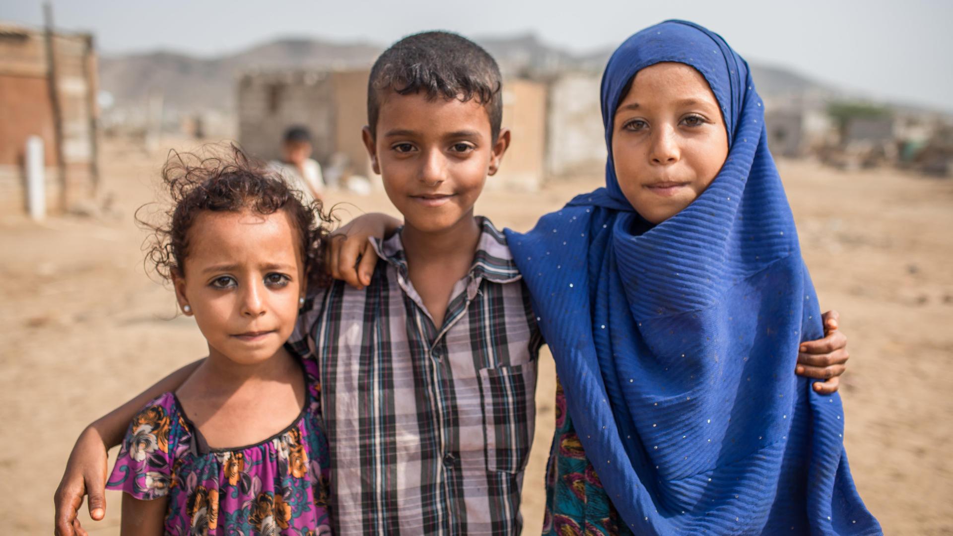 Three children in Yemen