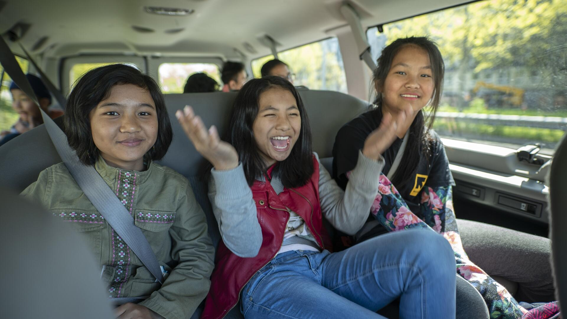 Cing, Cing and Cing are friends from Myanmar who now live near Seattle with their families.