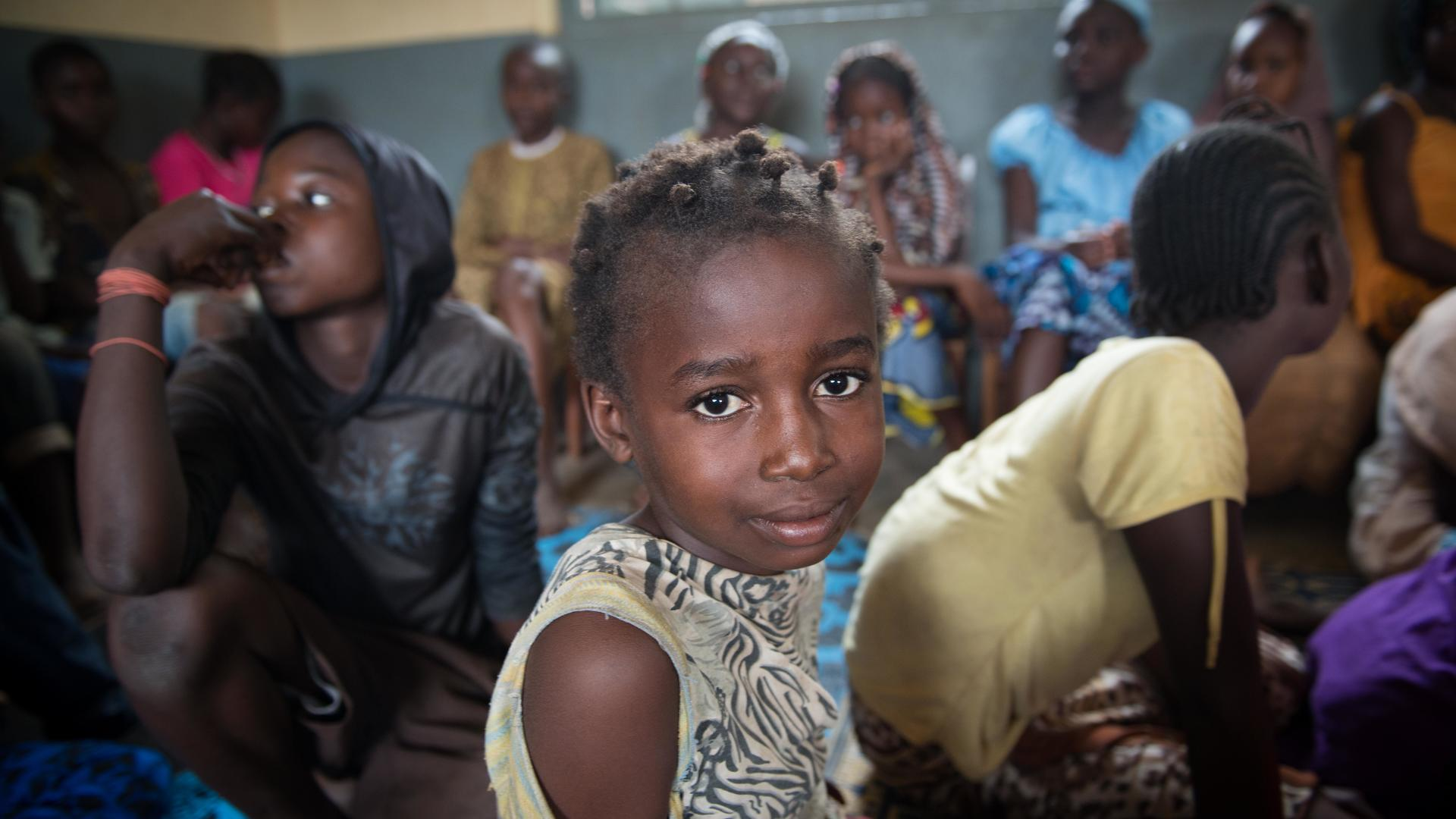 Central African girl at an IRC-run safe space
