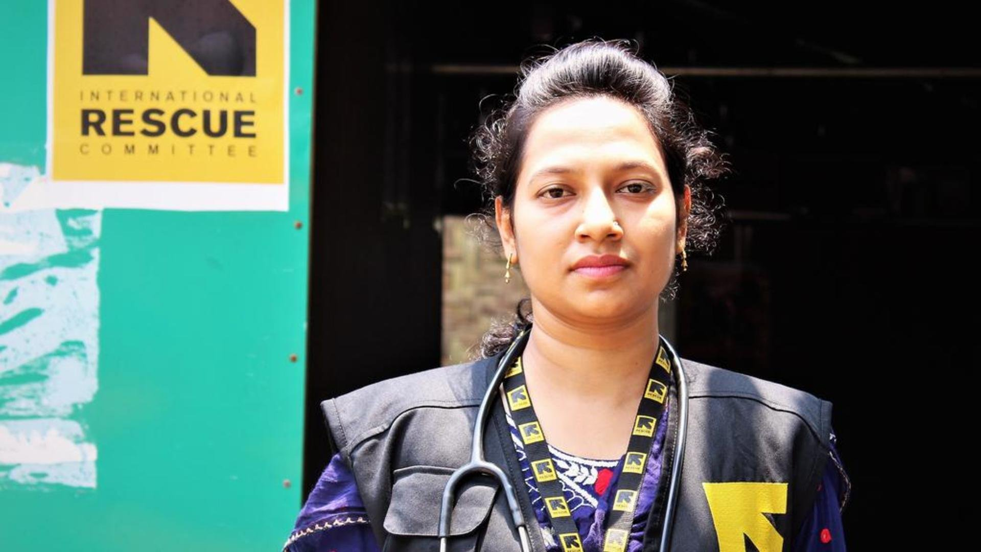 Kaniz Fatema works for the IRC as a midwife in Cox's Bazar