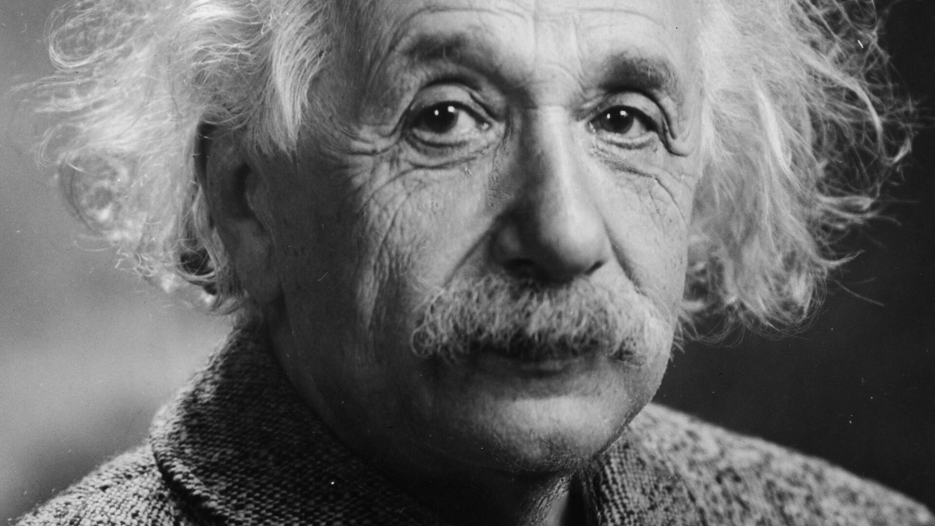 Photographic portrait of Albert Einstein