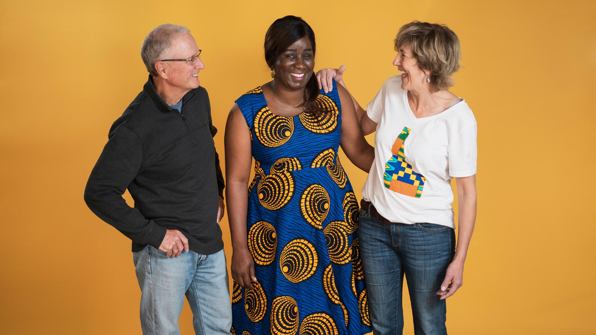 Jacqueline Uwumeremyi, center, was resettled by the IRC in Boise, Idaho