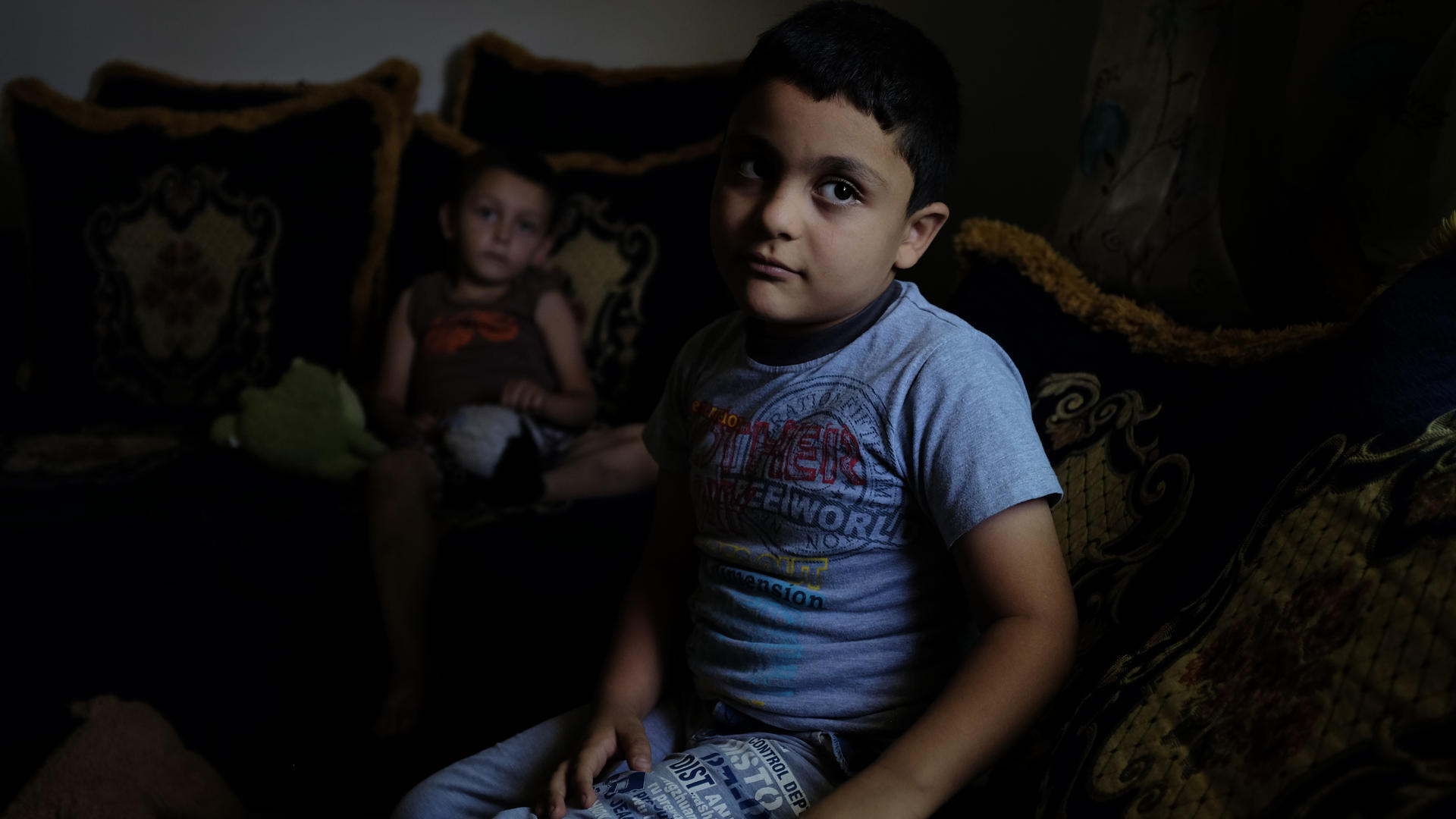 Hisham, in a refugee shelter in Jordan