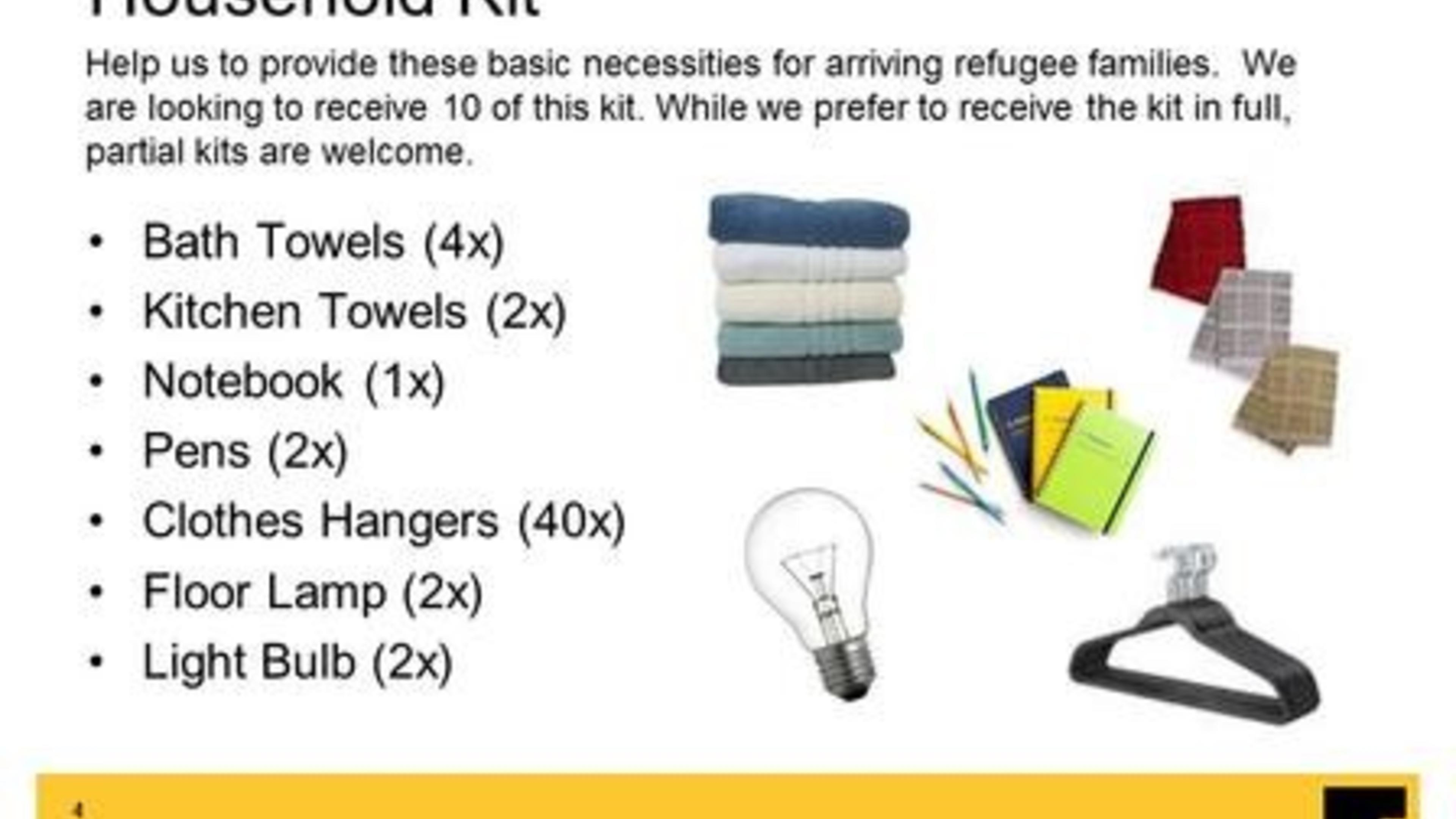 Items needed for refugees in Baltimore | International Rescue ...